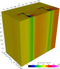 Photo: Dampfdiffusions-Stromdichten (zur Identifikation von Dampfdiffusionsbrücken) Farbskala: Psychologisch Werteintervall: 0-60 mg/m²h