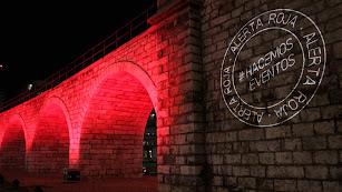 El Cable Inglés iluminado por #Alerta Roja #Hacemos Espectáculos.