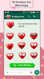 New 3D Stickers For WhatsApp - WAStickerapps Free Screenshot