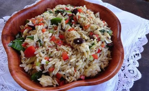 Click Here for Recipe: Orzo and Spinach Salad