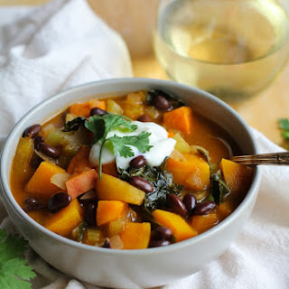 Fall Harvest Vegetarian Chili with Kale.
