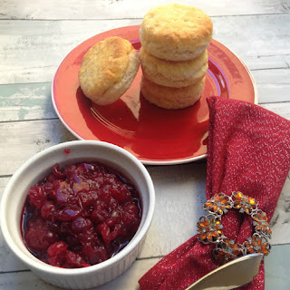 Cranberry Jelly & Biscuits.