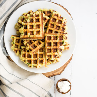 Goat Cheese and Spinach Mashed Potato Waffles.