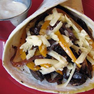 Portobello, Onion, Pepper & Havarti Wrap