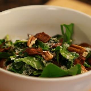 Warm Spinach Salad with Bacon, Pecorino, and Ale Vinaigrette