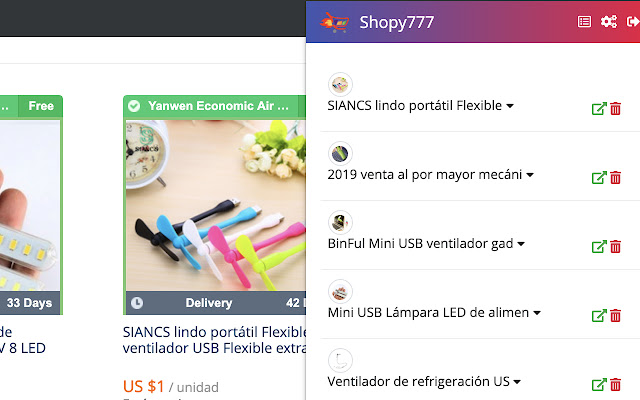 Shopy777 Extension