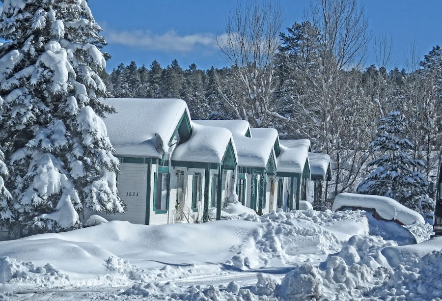 Snow on the roof by Nancy Young - Landscapes Weather ( winter, cold, snow, white, rooftops )