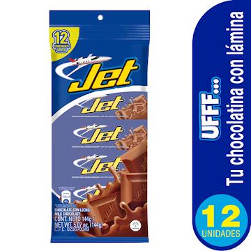 Chocolatina JET con   Leche x12Und