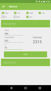 Calorie Counter - Macros- screenshot thumbnail