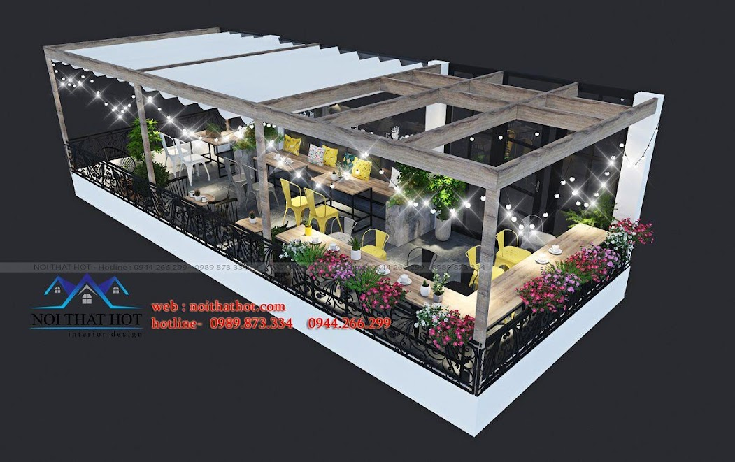 thiết kế quán trà sữa cafe và siêu thị 15