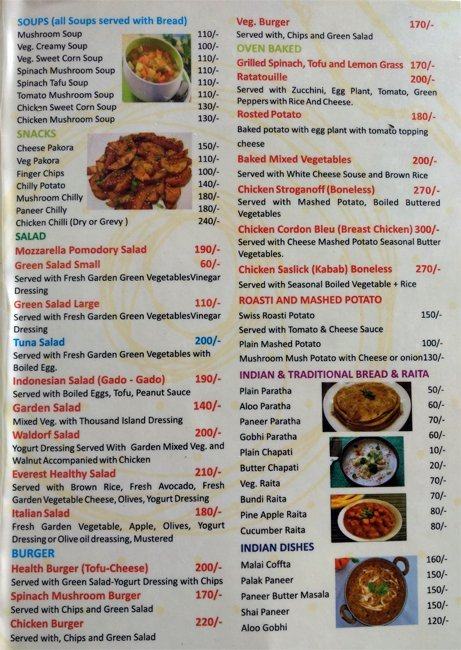 Menu Of Everest Kitchen Paharganj New Delhi Magicpin