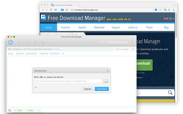 add free download manager to chrome