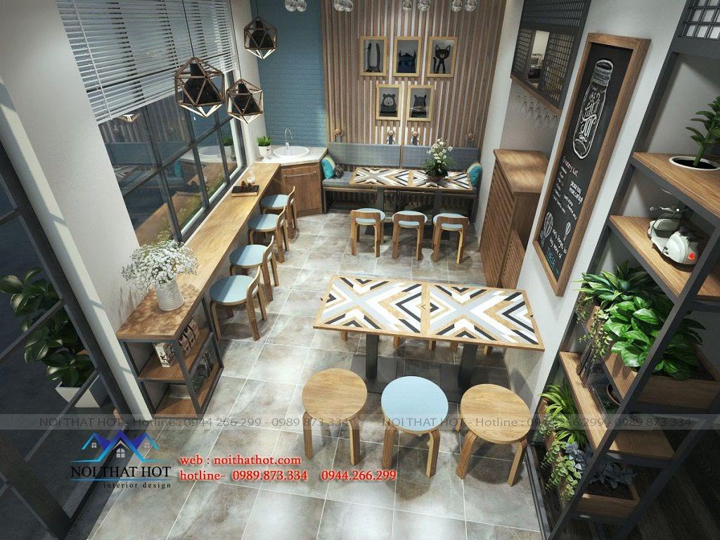 thiết kế quán cafe nhỏ ấm cúng, dễ gần tại Ninh Hiệp