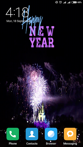 New Year 2019 Live Wallpaper 1.2 screenshots 2
