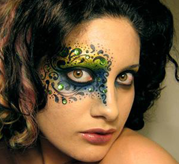 Photo: Pretty gypsy floral pattern eye makeup