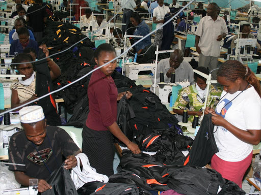 A file photo of workers at the Ricardo EPZ textile factory In Athi River. The AGOA Act allows eligible African countries to export a wide range of goods to the US duty free.