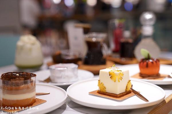 DAS kafeD德勒斯登河岸咖啡(新光台中店)。新光三越甜點推薦,德式年輪蛋糕,口感細緻,咖啡達人現製咖啡