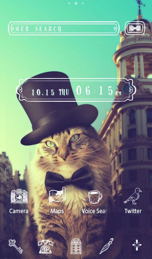 Cat  Theme-Feline Gentleman-- screenshot