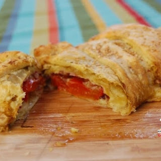 Tomato and Mozzarella Filled Puff Pastry.