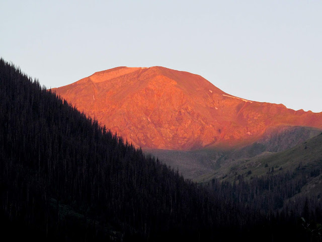 Sunlight on Handies Peak