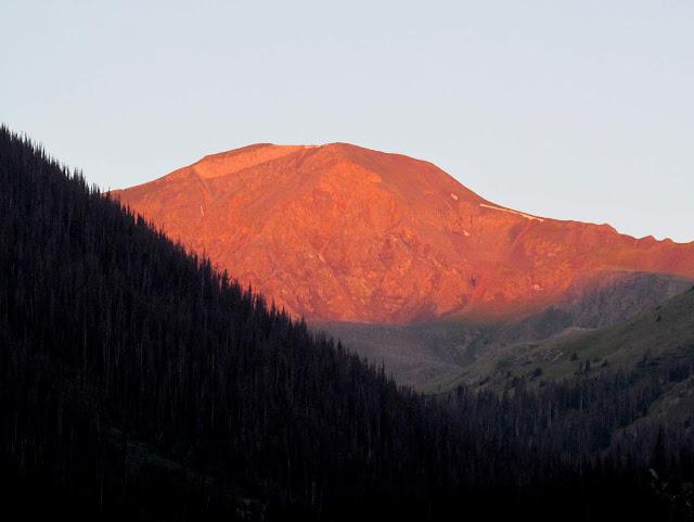 Sunlight on Handies Peak