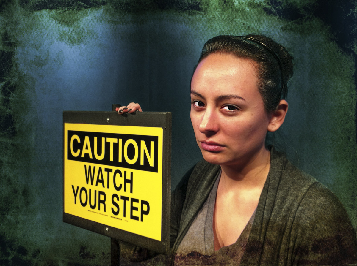"""Photo: She Needs No Explanation If the eyes don't tell you, there's this sign she gives.  Our receptionist Leti is a lot of fun, but she can freeze a miscreant in his tracks with a glance. """"Don't mess with me, fool!"""" is what she seems to say. It's good advice, I tell you!  This is a much belated make-good for Project52-2012 week 34: Portrait.  +GPLUS::P52::2012originated by +Giuseppe Basile +Project52-2012is moderated by +Gretchen Chappelle+Shelly Gunderson +Gary Munroe+Greg Berdan+Sue Butler+LaDonna Prideand +Kate Church #Project52-2012 #portrait"""