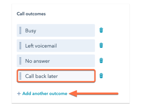 Custom call outcomes in HubSpot