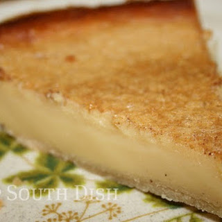 Old Fashioned Egg Custard Pie.