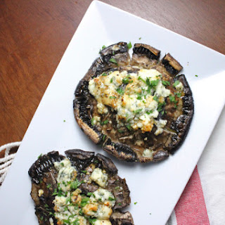 Balsamic Roasted Portobello Mushrooms with Blue Cheese.