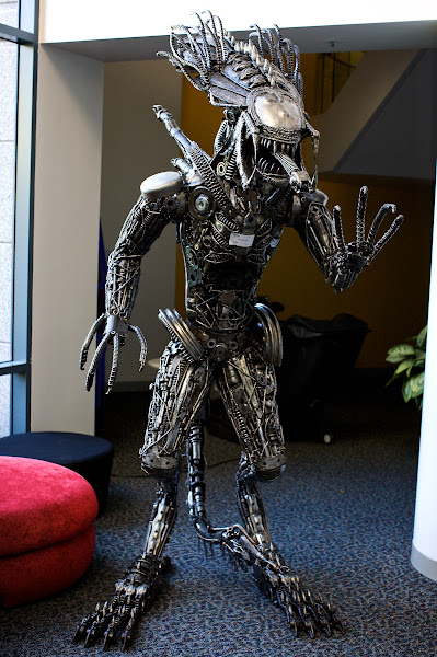 Photo: It, ummm, showed up in the lobby yesterday and refuses to leave. Keeps saying something about being here to see Ridley Scott.