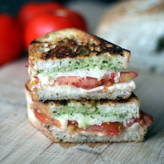 Caprese Panini with Tomato, Pesto & Mozzarella Recipe