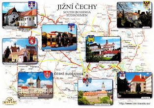 Photo: Tsjechië. Lipno-kaart.