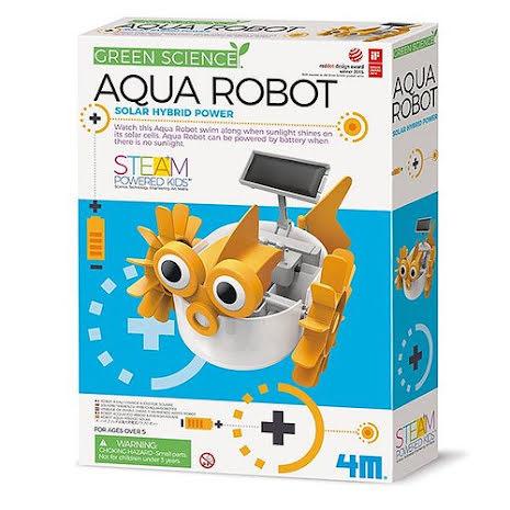 Aqua robot - Byggkit för att bygga en soldriven robotfisk
