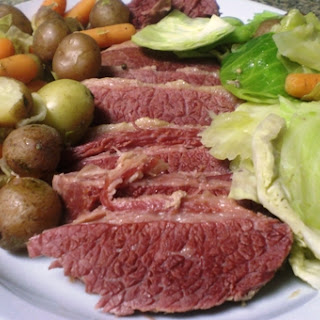 Slow Cooker Corned Beef and Vegetables.