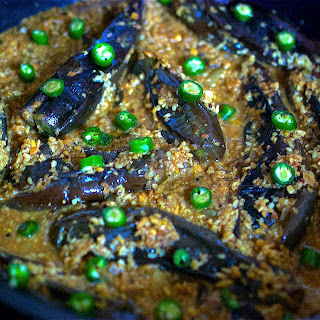 Aubergine Curry with Coconut and Peanuts – Bagare Baingan