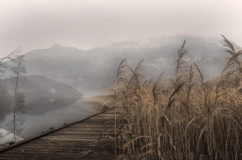 Giornata grigia sul lago di Moreno re