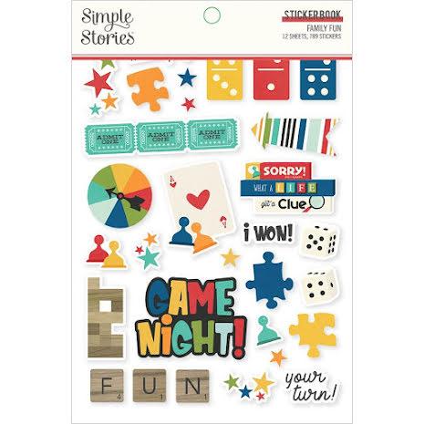 Simple Stories Sticker Book 4X6 12/Pkg - Family Fun