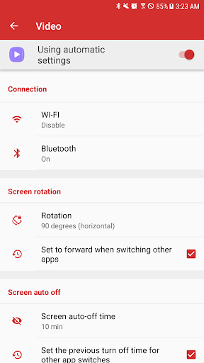 AUTOSET(Auto App Setting) Apps for Android screenshot