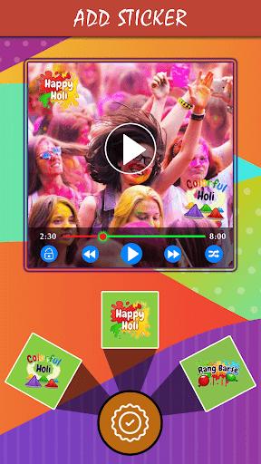 Holi HD Video Maker 2019  screenshots 4