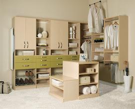 Photo: Custom closet in natural maple