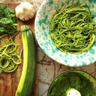 Zucchini Noodles With Homemade Pesto