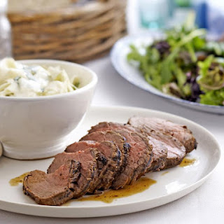 Roast Beef Tenderloin with Celeriac Remoulade.