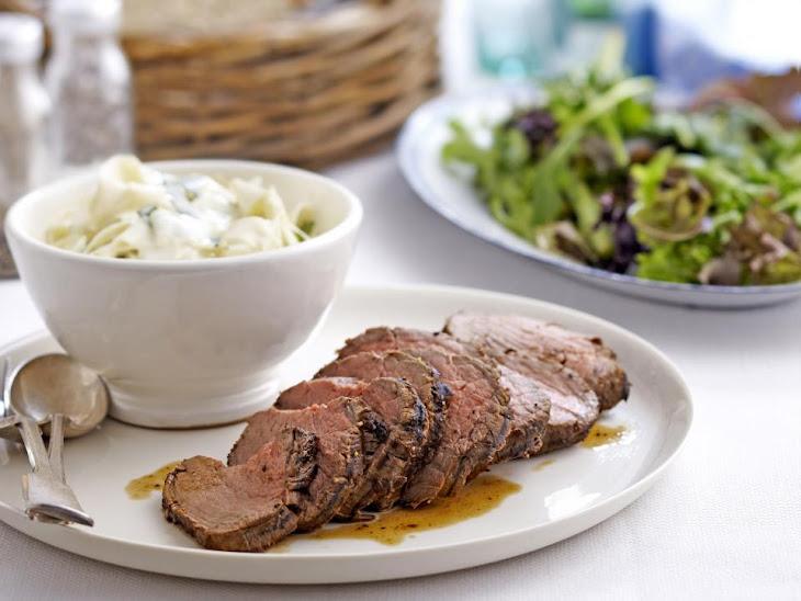Roast Beef Tenderloin with Celeriac Remoulade Recipe