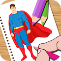 Super Hero Coloring for Kids 2 icon