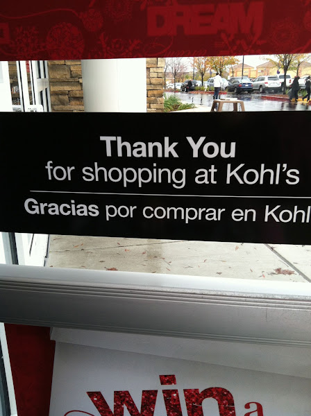 Photo: I know I'll be back to Kohl's soon...