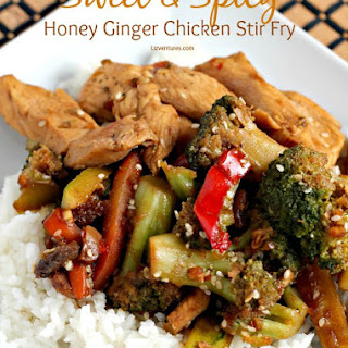 Sweet & Spicy Honey Ginger Chicken Stir Fry