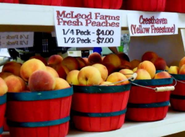 Farm Store In Mcbee, Sc Where I Buy My Peaches. I Buy A Lot In Season, Peel And Slice And Freeze On Cookie Sheets.  When They Are Completely Frozen, I Store Them In 1 Gallon Freezer Bags For Use In Pies And Smoothies All Year Long.