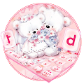 Cute Pink Teddy Couple Keyboard APK