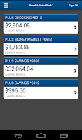 Screenshot of People's United Bank Mobile
