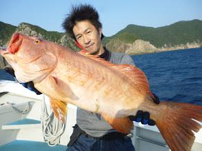 Photo: わちゃー! 高級魚スジアラ! 5kgちかくありました!